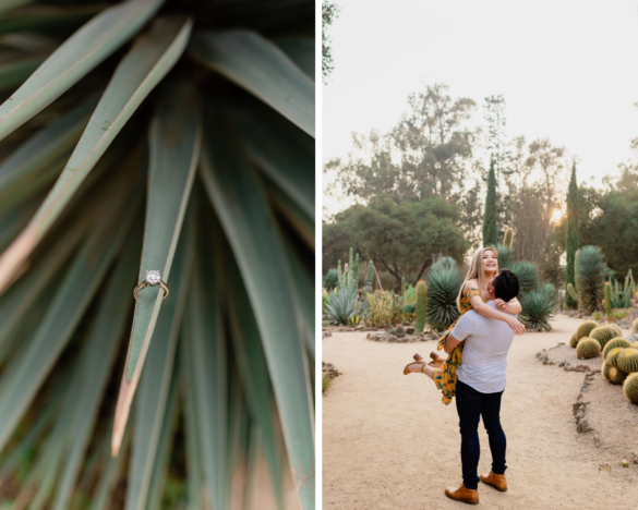 Desert-inspired Palo Alto Engagement session, Arizona Cactus Garden | © Shannon May Brown